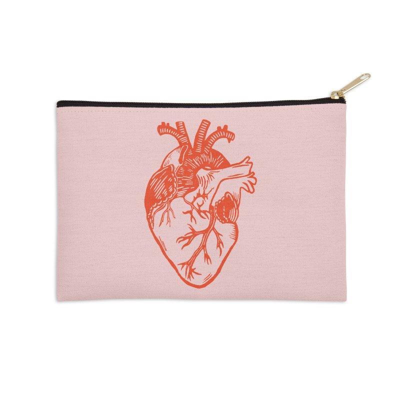 Clear Heart in Accessories Zip Pouch by BareBonesStudio's Artist Shop