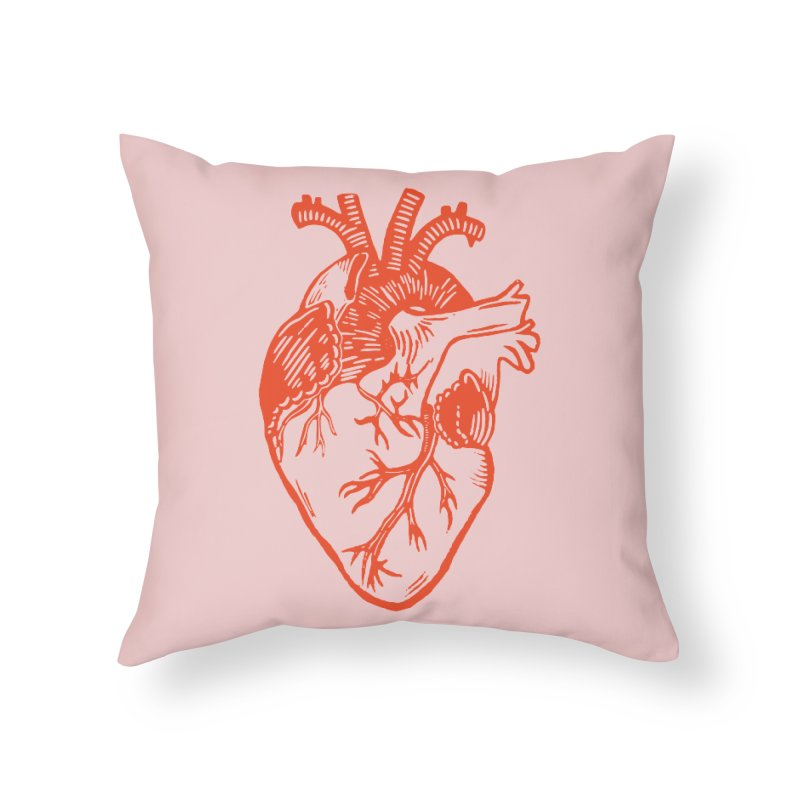 Clear Heart in Home Throw Pillow by BareBonesStudio's Artist Shop