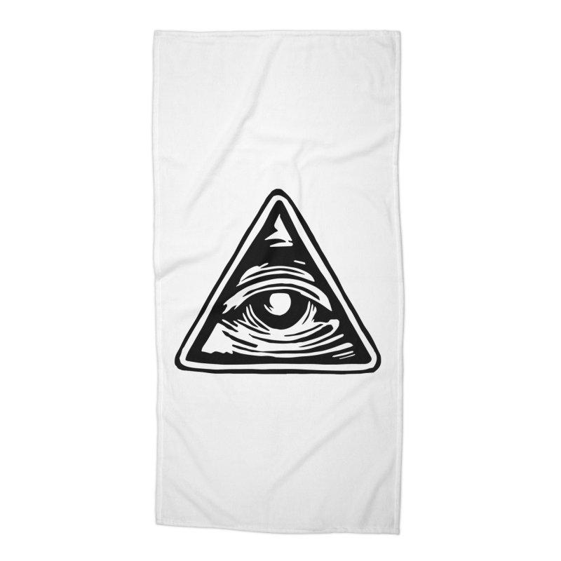 Mystic Eye Accessories Beach Towel by BareBonesStudio's Artist Shop