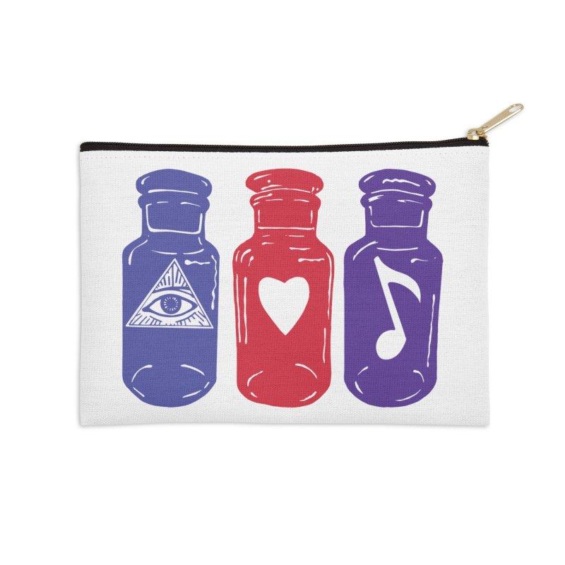 Wisdom, Love and Harmony Accessories Zip Pouch by BareBonesStudio's Artist Shop