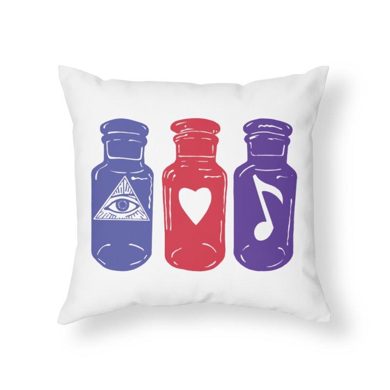 Wisdom, Love and Harmony Home Throw Pillow by BareBonesStudio's Artist Shop