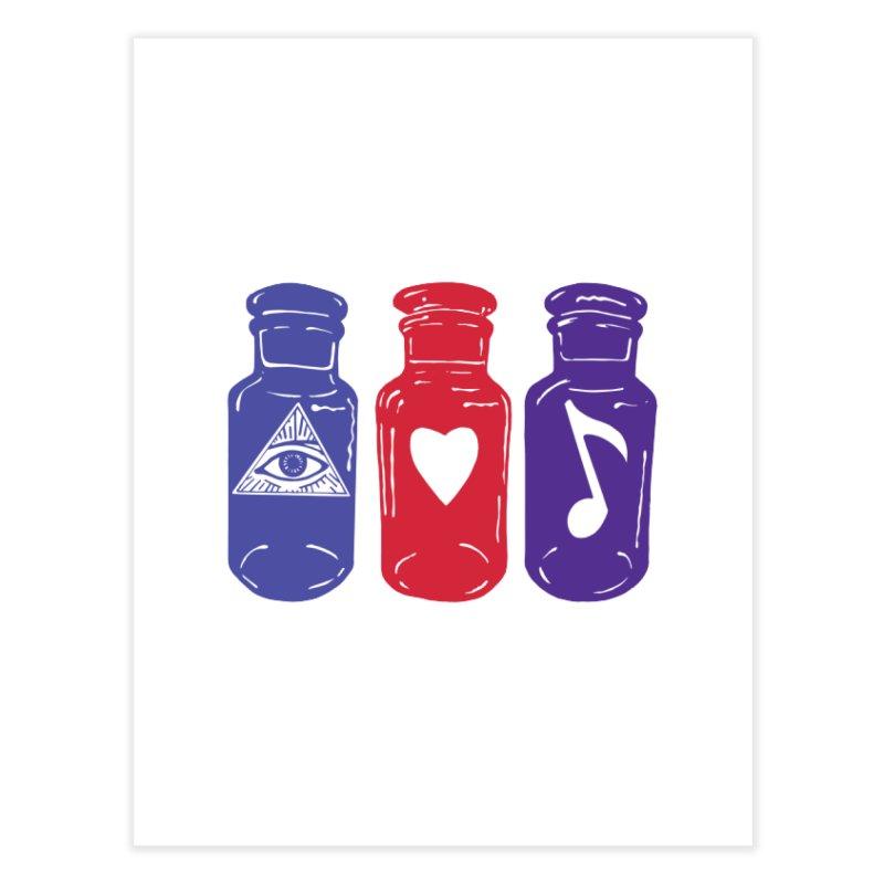 Wisdom, Love and Harmony Home Fine Art Print by BareBonesStudio's Artist Shop