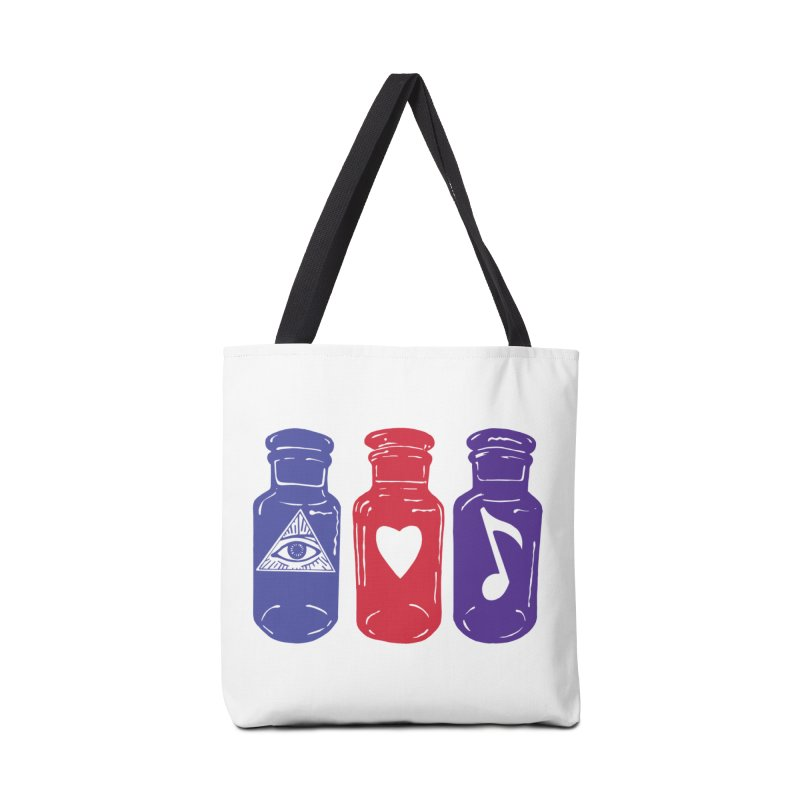 Wisdom, Love and Harmony Accessories Bag by BareBonesStudio's Artist Shop