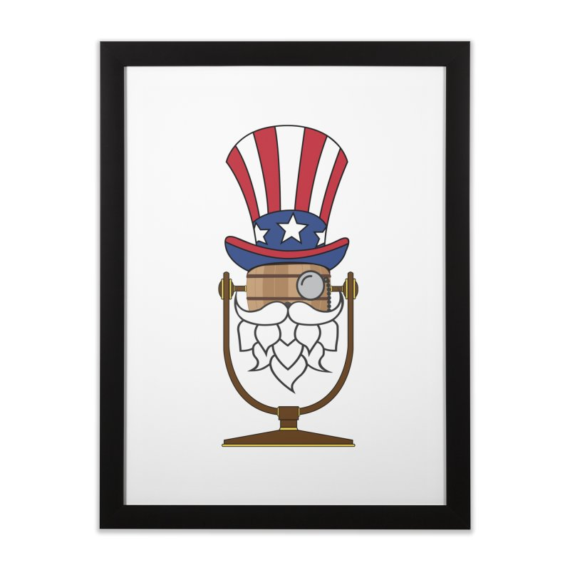 Fourth of July Hoppy Home Framed Fine Art Print by Barrel Chat Podcast Merch Shop
