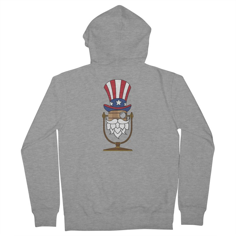 Fourth of July Hoppy Men's Zip-Up Hoody by Barrel Chat Podcast Merch Shop