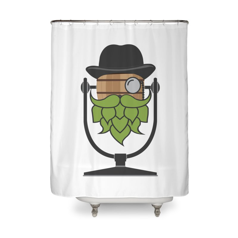 Hoppy Home Shower Curtain by Barrel Chat Podcast Merch Shop