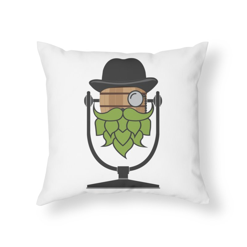 Hoppy Home Throw Pillow by Barrel Chat Podcast Merch Shop