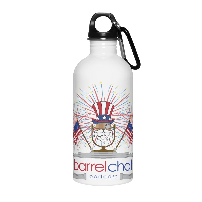 Fourth of July Barrel Chat Podcast Accessories Water Bottle by Barrel Chat Podcast Merch Shop