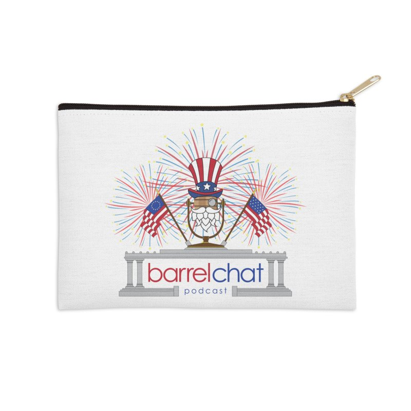 Fourth of July Barrel Chat Podcast Accessories Zip Pouch by Barrel Chat Podcast Merch Shop