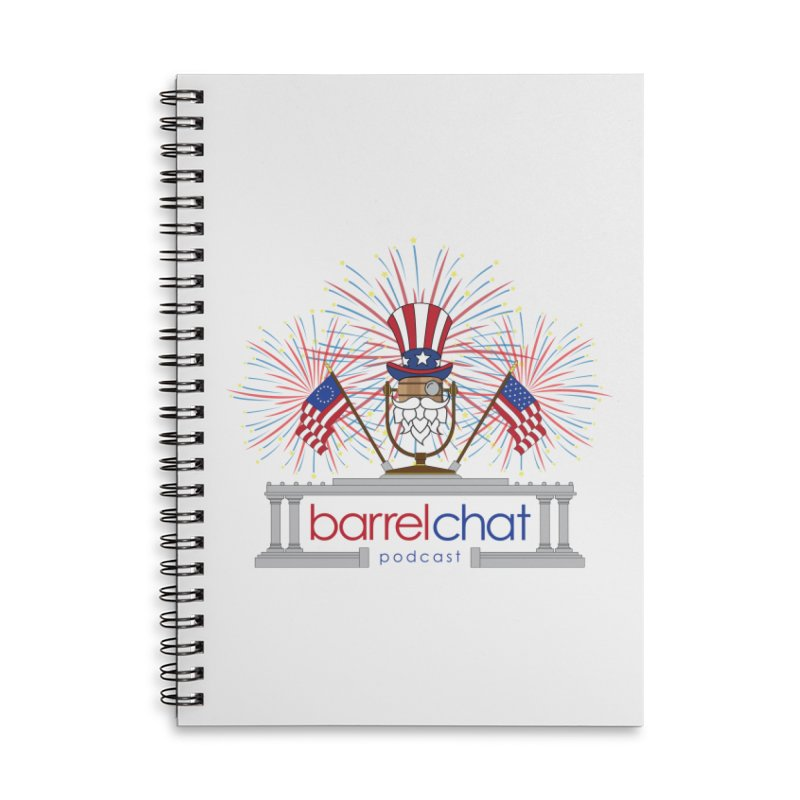 Fourth of July Barrel Chat Podcast Accessories Lined Spiral Notebook by Barrel Chat Podcast Merch Shop