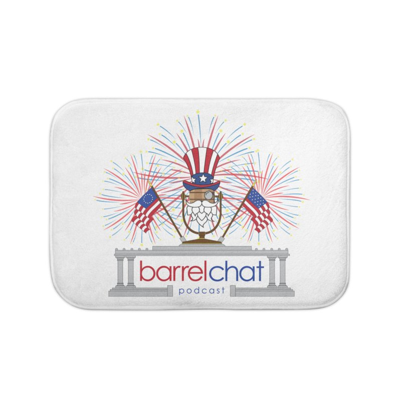 Fourth of July Barrel Chat Podcast Home Bath Mat by Barrel Chat Podcast Merch Shop