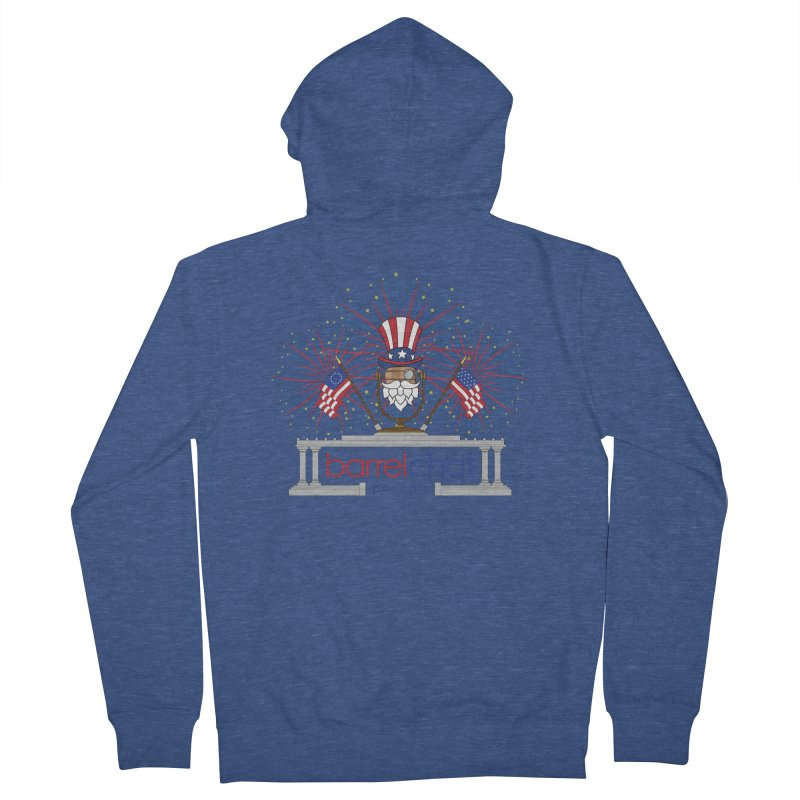 Fourth of July Barrel Chat Podcast Women's French Terry Zip-Up Hoody by Barrel Chat Podcast Merch Shop