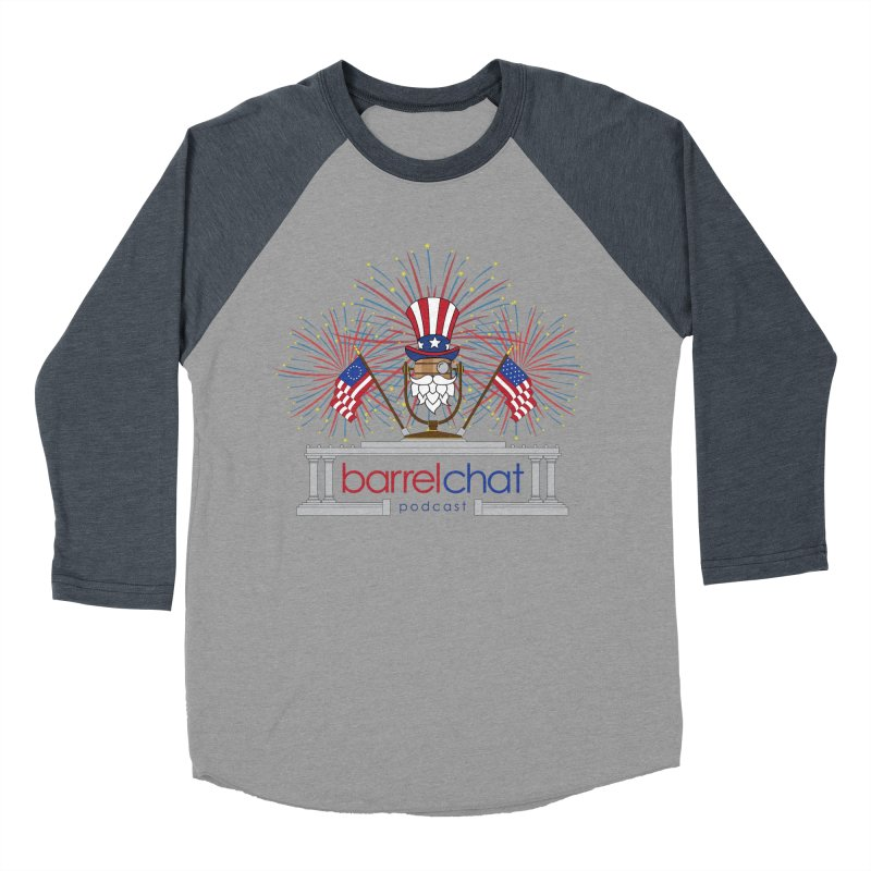 Fourth of July Barrel Chat Podcast Women's Baseball Triblend Longsleeve T-Shirt by Barrel Chat Podcast Merch Shop