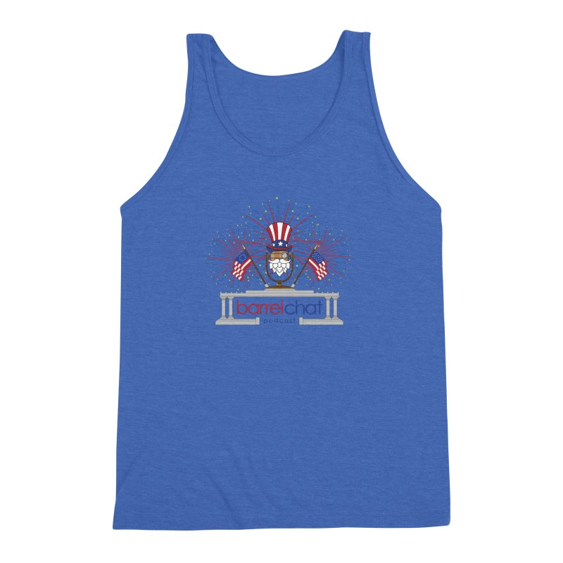 Fourth of July Barrel Chat Podcast Men's Triblend Tank by Barrel Chat Podcast Merch Shop
