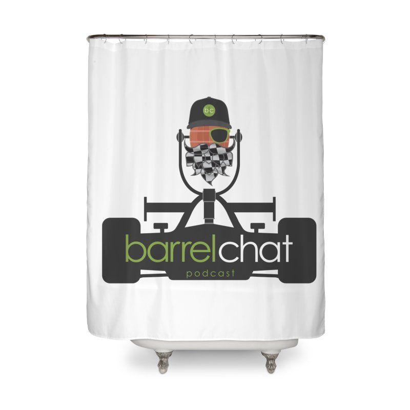 Race Day Barrel Chat Podcast Home Shower Curtain by Barrel Chat Podcast Merch Shop
