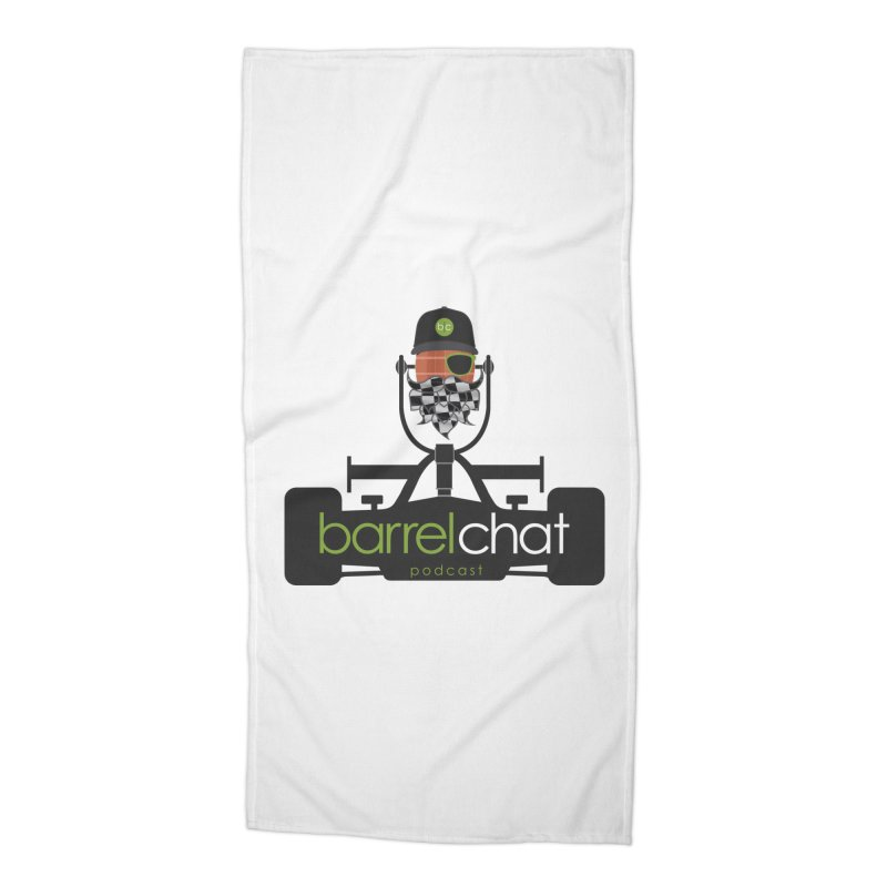 Race Day Barrel Chat Podcast Accessories Beach Towel by Barrel Chat Podcast Merch Shop