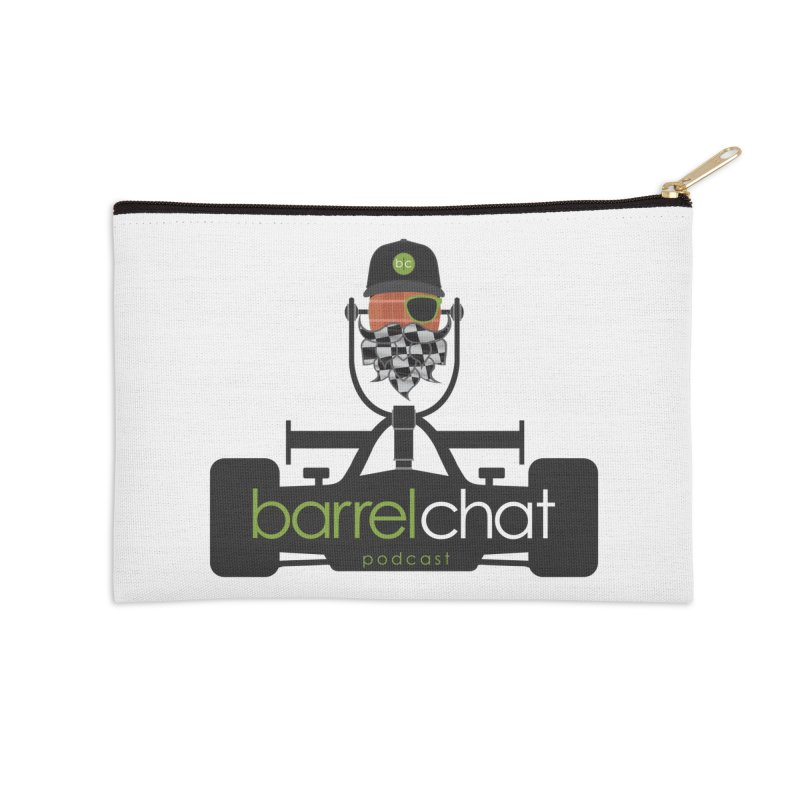 Race Day Barrel Chat Podcast Accessories Zip Pouch by Barrel Chat Podcast Merch Shop