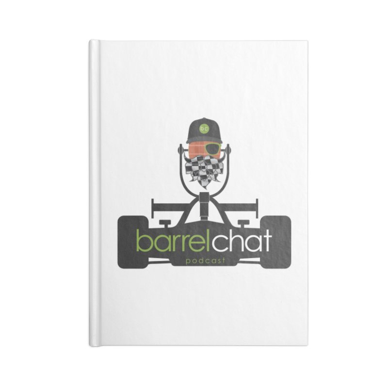 Race Day Barrel Chat Podcast Accessories Lined Journal Notebook by Barrel Chat Podcast Merch Shop