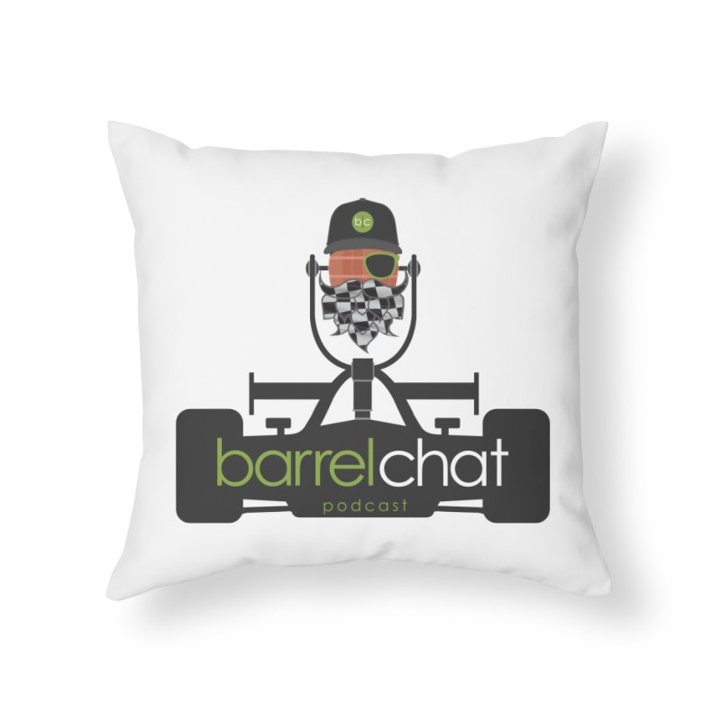 Race Day Barrel Chat Podcast Home Throw Pillow by Barrel Chat Podcast Merch Shop