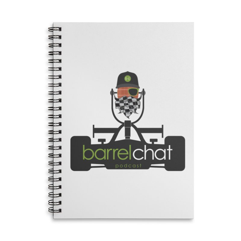 Race Day Barrel Chat Podcast Accessories Lined Spiral Notebook by Barrel Chat Podcast Merch Shop