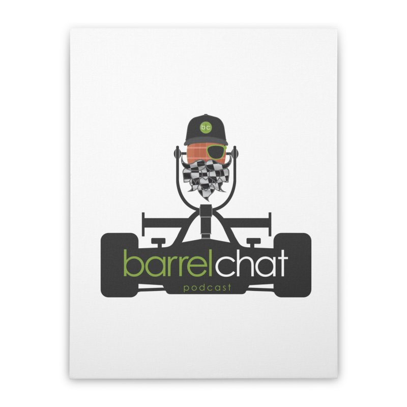 Race Day Barrel Chat Podcast Home Stretched Canvas by Barrel Chat Podcast Merch Shop