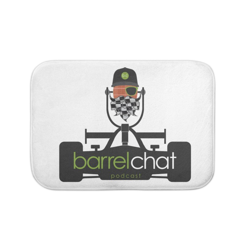 Race Day Barrel Chat Podcast Home Bath Mat by Barrel Chat Podcast Merch Shop
