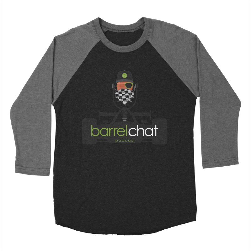 Race Day Barrel Chat Podcast Men's Baseball Triblend Longsleeve T-Shirt by Barrel Chat Podcast Merch Shop
