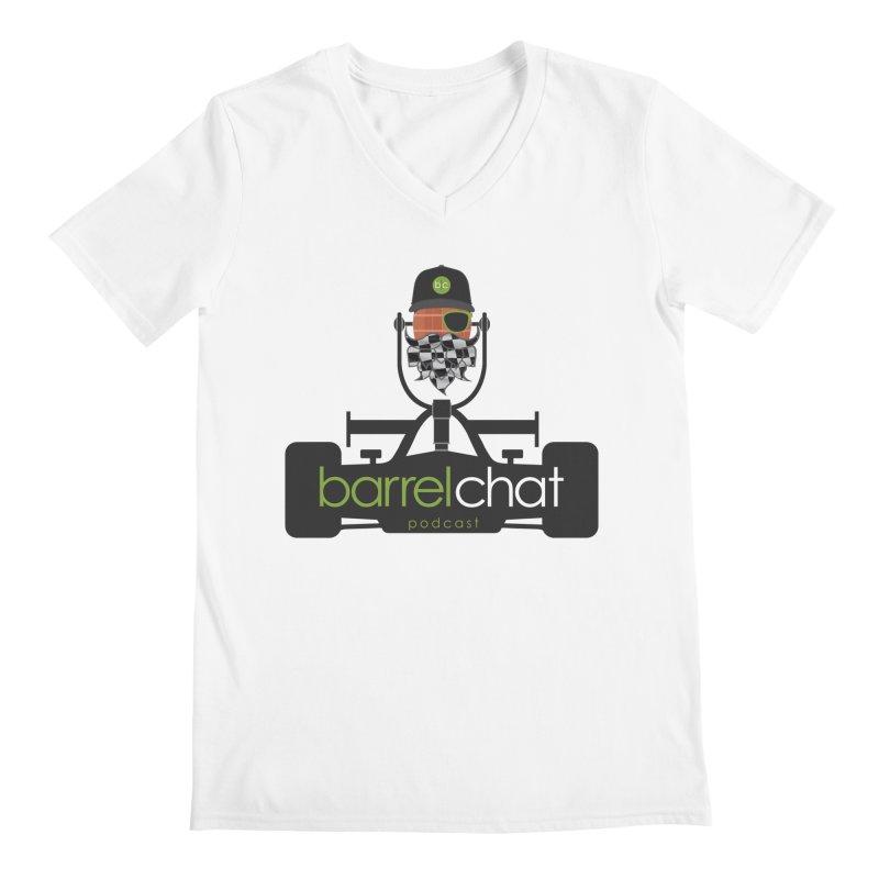 Race Day Barrel Chat Podcast Men's Regular V-Neck by Barrel Chat Podcast Merch Shop