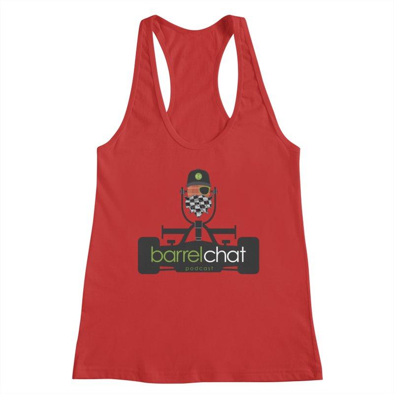 Race Day Barrel Chat Podcast Women's Racerback Tank by Barrel Chat Podcast Merch Shop