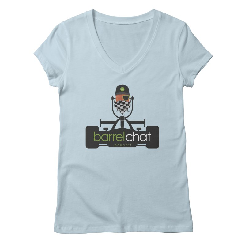 Race Day Barrel Chat Podcast Women's Regular V-Neck by Barrel Chat Podcast Merch Shop