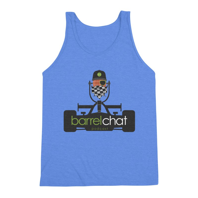 Race Day Barrel Chat Podcast Men's Triblend Tank by Barrel Chat Podcast Merch Shop