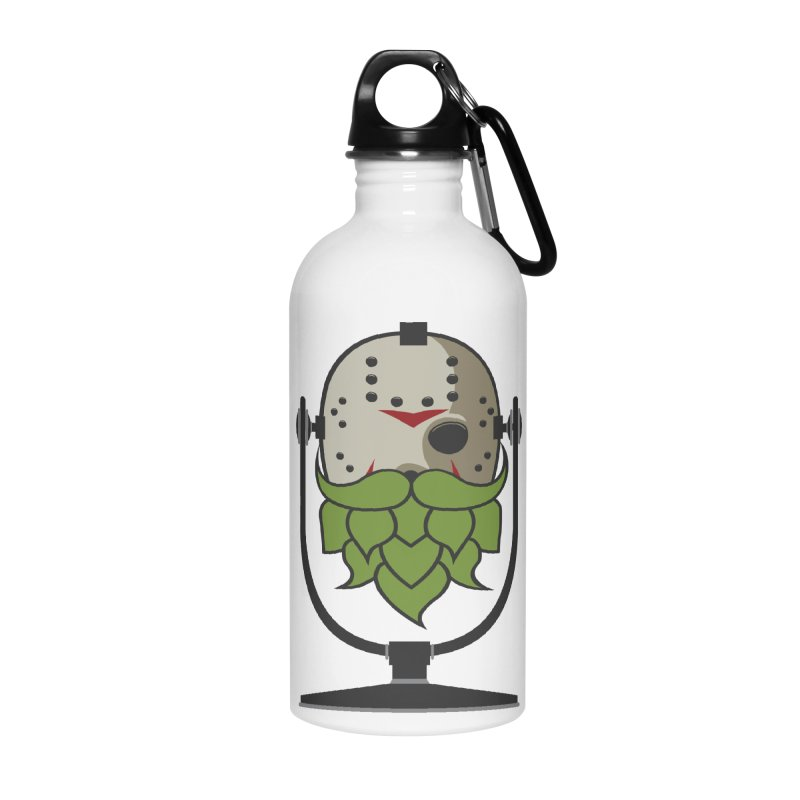 Halloween Hoppy - Jason Voorhees Accessories Water Bottle by Barrel Chat Podcast Merch Shop