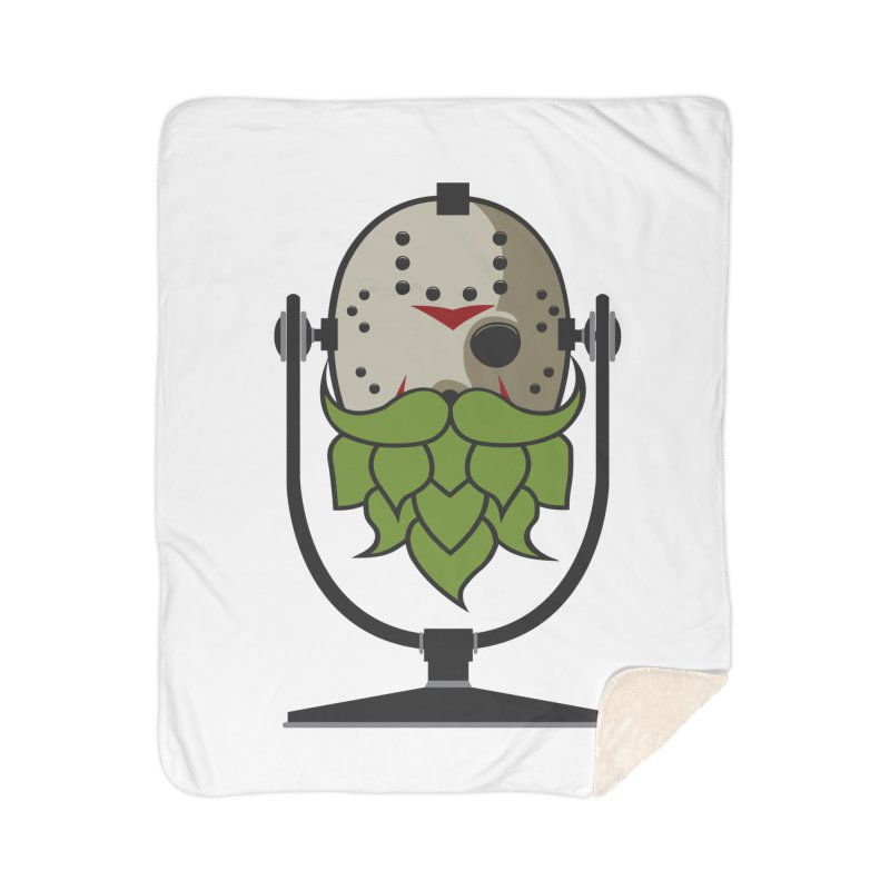 Halloween Hoppy - Jason Voorhees Home Sherpa Blanket Blanket by Barrel Chat Podcast Merch Shop
