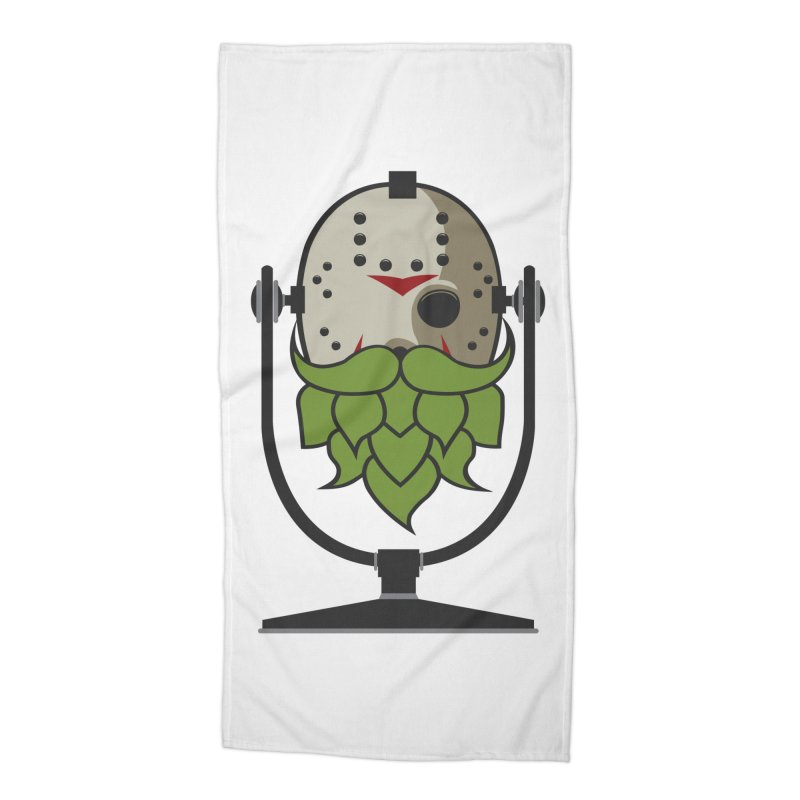 Halloween Hoppy - Jason Voorhees Accessories Beach Towel by Barrel Chat Podcast Merch Shop