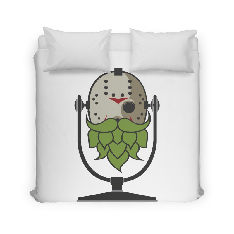 Halloween Hoppy - Jason Voorhees Home Duvet by Barrel Chat Podcast Merch Shop