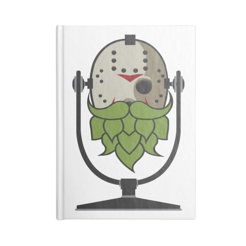 Halloween Hoppy - Jason Voorhees Accessories Blank Journal Notebook by Barrel Chat Podcast Merch Shop