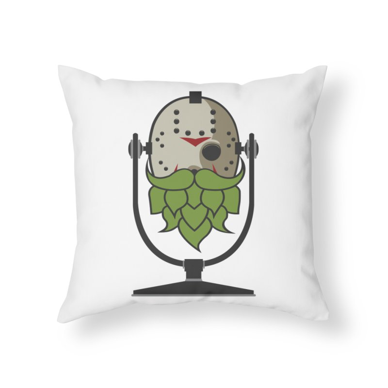 Halloween Hoppy - Jason Voorhees Home Throw Pillow by Barrel Chat Podcast Merch Shop