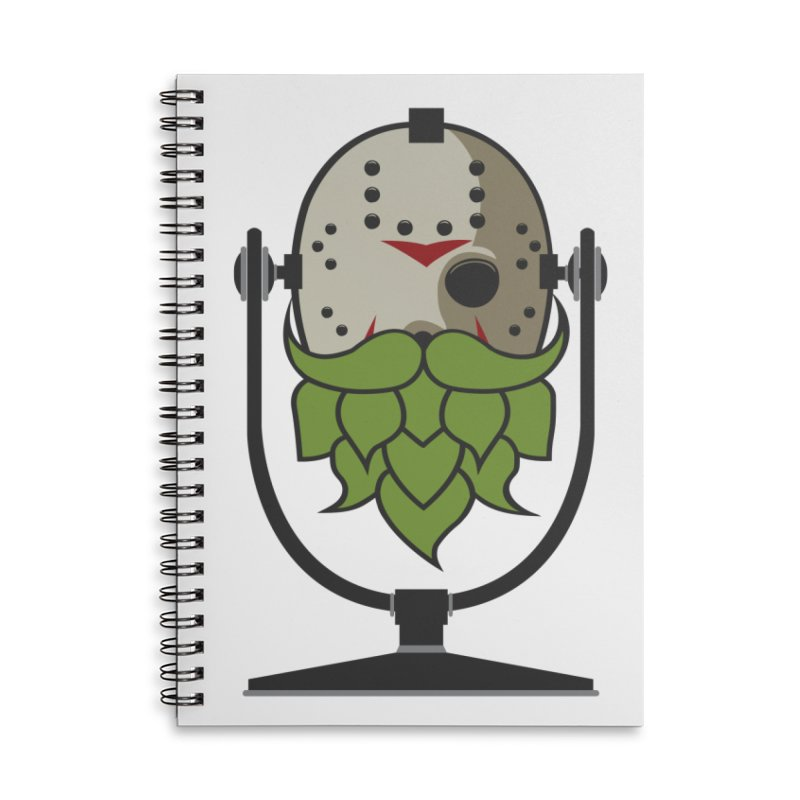 Halloween Hoppy - Jason Voorhees Accessories Lined Spiral Notebook by Barrel Chat Podcast Merch Shop