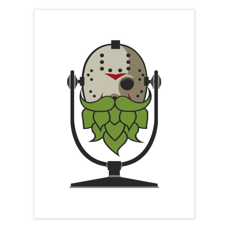 Halloween Hoppy - Jason Voorhees Home Fine Art Print by Barrel Chat Podcast Merch Shop