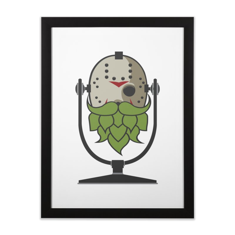 Halloween Hoppy - Jason Voorhees Home Framed Fine Art Print by Barrel Chat Podcast Merch Shop