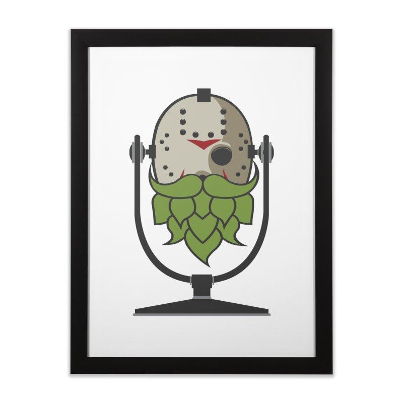 Halloween Hoppy - Jason Voorhees Home Framed Fine Art Print by Barrel Chat Podcast Merch Shop