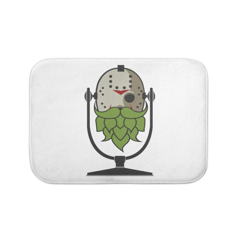 Halloween Hoppy - Jason Voorhees Home Bath Mat by Barrel Chat Podcast Merch Shop