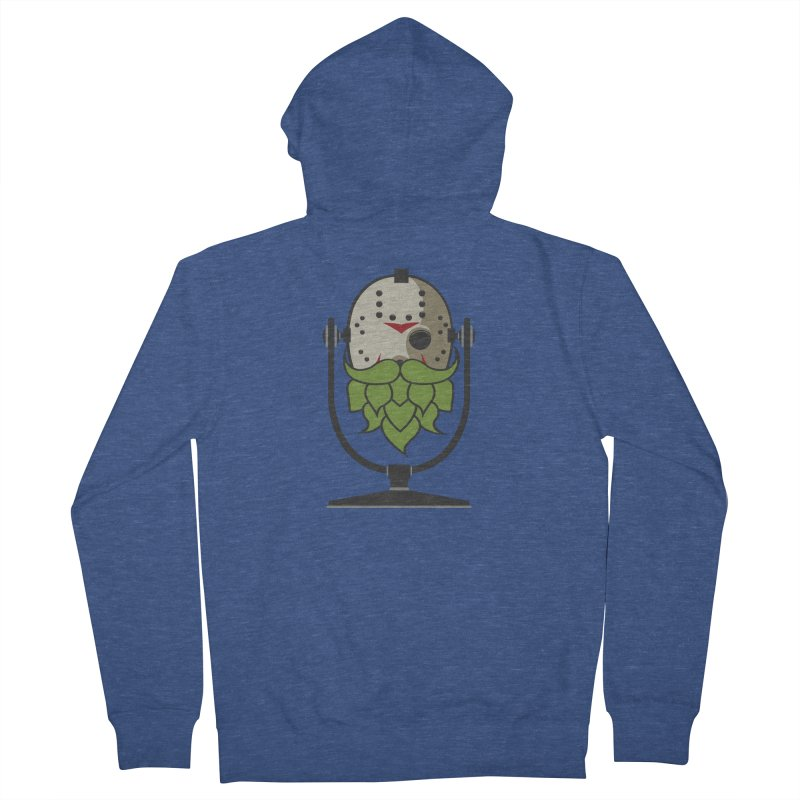 Halloween Hoppy - Jason Voorhees Men's French Terry Zip-Up Hoody by Barrel Chat Podcast Merch Shop