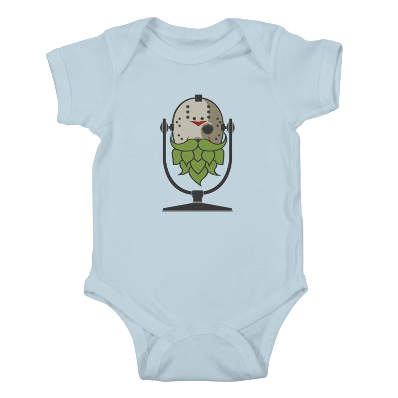 Halloween Hoppy - Jason Voorhees Kids Baby Bodysuit by Barrel Chat Podcast Merch Shop