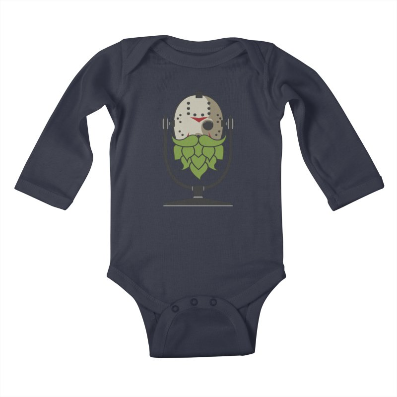 Halloween Hoppy - Jason Voorhees Kids Baby Longsleeve Bodysuit by Barrel Chat Podcast Merch Shop