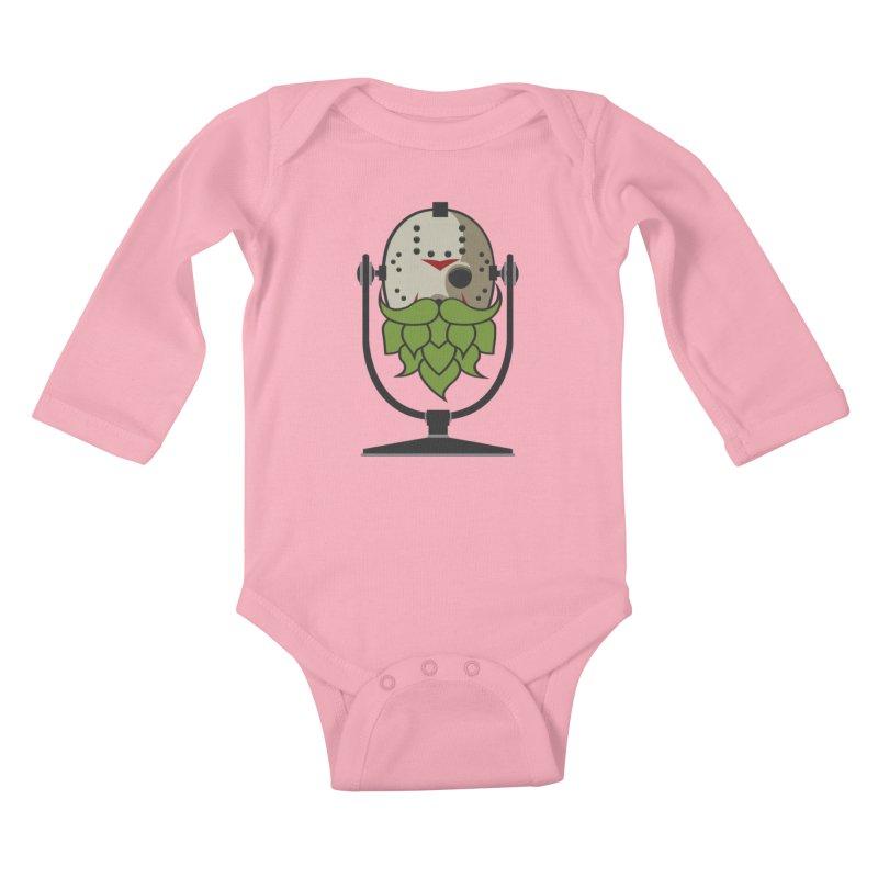 Halloween Hoppy - Jason Voorhees Kids Baby Longsleeve Bodysuit by Barrel Chat Podcast Merch Shop