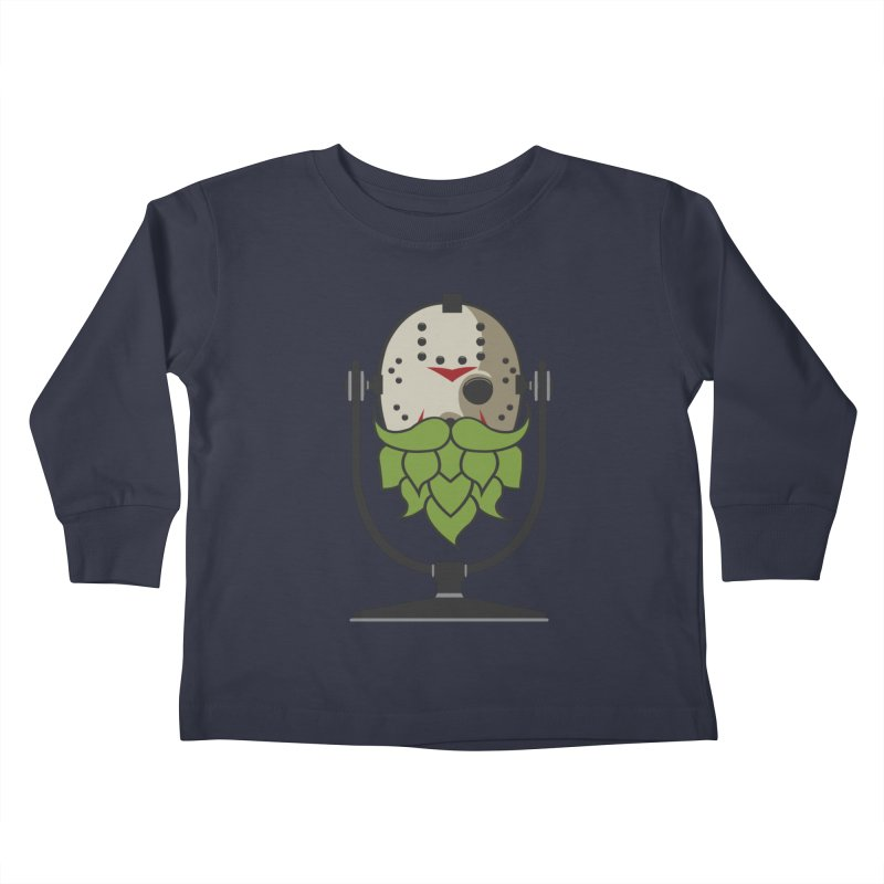 Halloween Hoppy - Jason Voorhees Kids Toddler Longsleeve T-Shirt by Barrel Chat Podcast Merch Shop