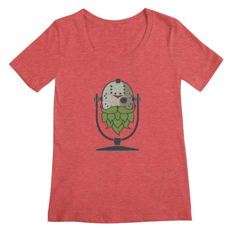 Halloween Hoppy - Jason Voorhees Women's Regular Scoop Neck by Barrel Chat Podcast Merch Shop