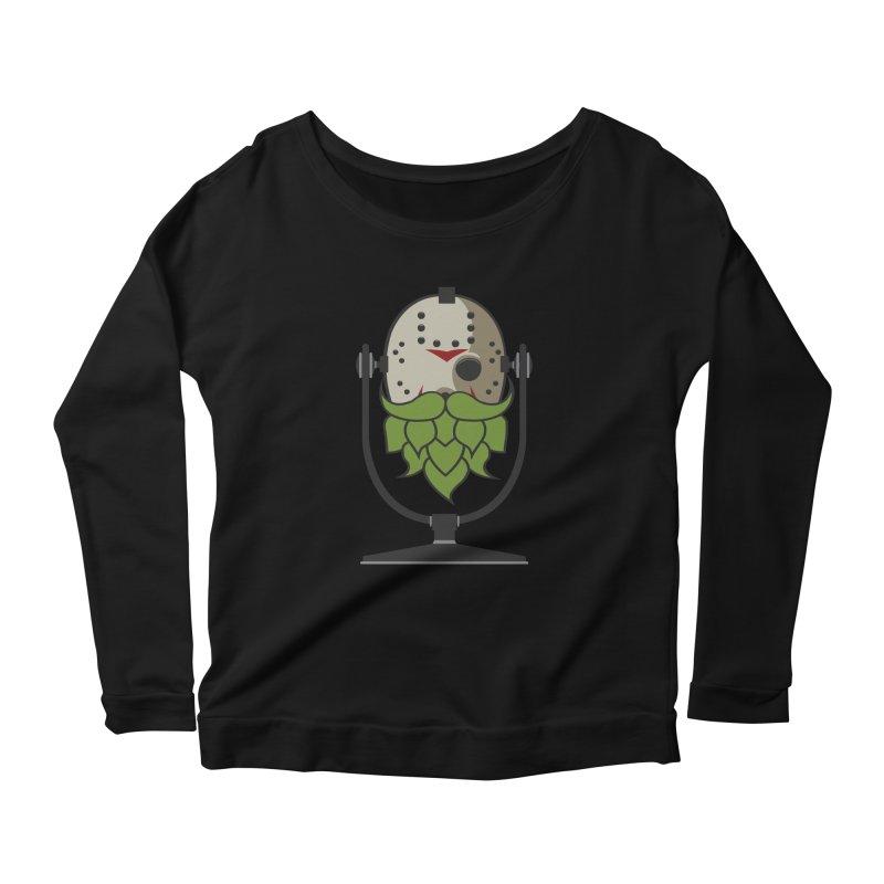 Halloween Hoppy - Jason Voorhees Women's Scoop Neck Longsleeve T-Shirt by Barrel Chat Podcast Merch Shop