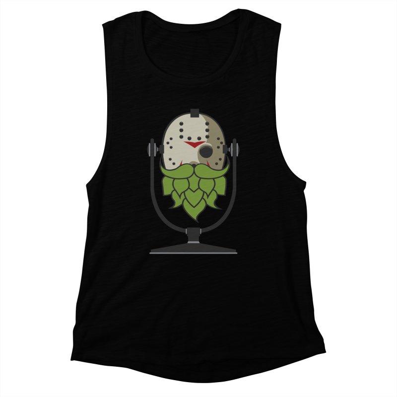 Halloween Hoppy - Jason Voorhees Women's Muscle Tank by Barrel Chat Podcast Merch Shop